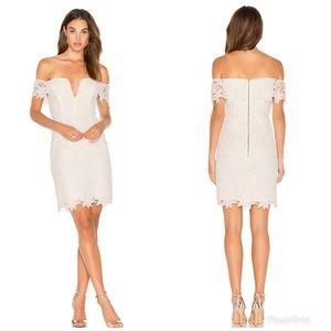 ASTR The Label Daniela Lace Off-The-Shoulder Dress